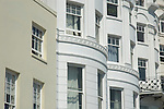 Regency houses on the seafront, Marine Parade, Brighton, Sussex, England UK