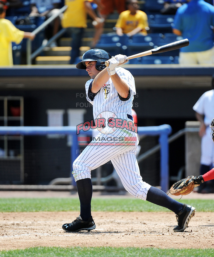 Staten Island Yankees outfielder Michael O'Neill (39) during game against the Batavia Muckdogs at Richmond County Bank Ballpark at St.George on July 18, 2013 in Staten Island, NY.  Batavia defeated Staten Island 8-2.  (Tomasso DeRosa/Four Seam Images)