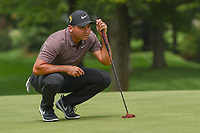 Jason Day (AUS) lines up his putt on 1 during 2nd round of the World Golf Championships - Bridgestone Invitational, at the Firestone Country Club, Akron, Ohio. 8/3/2018.<br /> Picture: Golffile | Ken Murray<br /> <br /> <br /> All photo usage must carry mandatory copyright credit (© Golffile | Ken Murray)