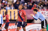 Juan Agudelo. The USMNT tied Argentina, 1-1, at the New Meadowlands Stadium in East Rutherford, NJ.