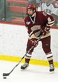 Patrick Wey (BC - 6) - The Boston College Eagles defeated the Harvard University Crimson 3-2 on Wednesday, December 9, 2009, at Bright Hockey Center in Cambridge, Massachusetts.