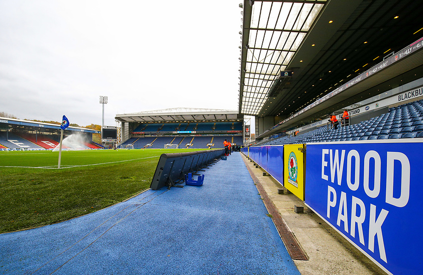 A general view of Ewood Park, home of Blackburn Rovers<br /> <br /> Photographer Alex Dodd/CameraSport<br /> <br /> The EFL Sky Bet Championship - Blackburn Rovers v Queens Park Rangers - Saturday 3rd November 2018 - Ewood Park - Blackburn<br /> <br /> World Copyright © 2018 CameraSport. All rights reserved. 43 Linden Ave. Countesthorpe. Leicester. England. LE8 5PG - Tel: +44 (0) 116 277 4147 - admin@camerasport.com - www.camerasport.com