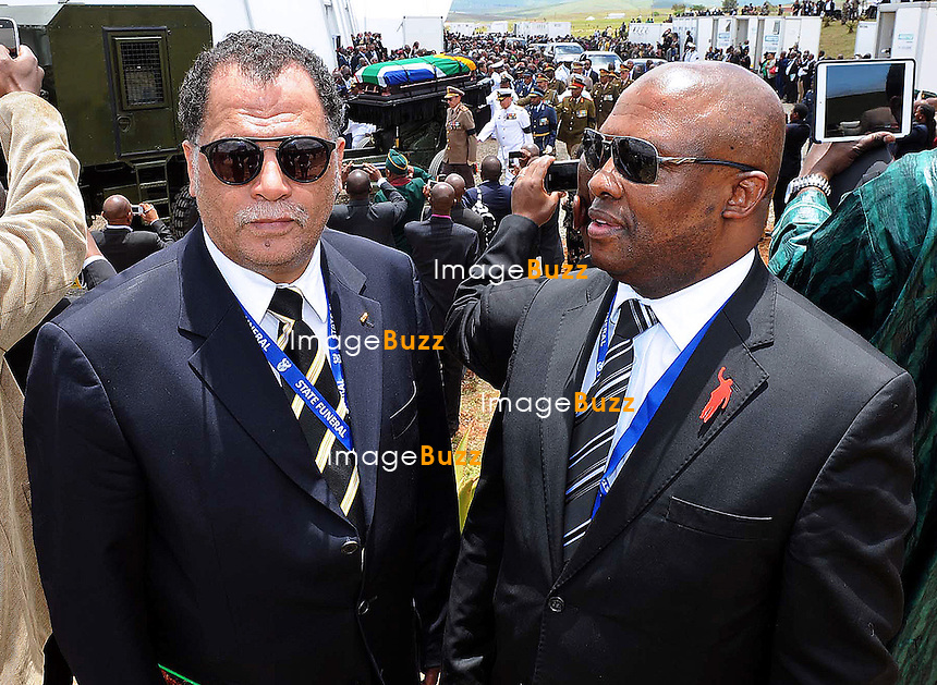 Qunu, South Africa: 15.12.2013: STATE FUNERAL FOR NELSON MANDELA<br /> DANNY JORDAN (President of SAFA)<br /> joined thousands of mourners at the funeral service for former President Nelson Mandela in Qunu, Eastern Cape, South Africa