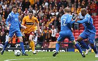 Jamie Murphy putting pressure on Murray Davidson