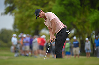 Lucas Bjerregaard (DEN) watches his putt on 1 during day 3 of the WGC Dell Match Play, at the Austin Country Club, Austin, Texas, USA. 3/29/2019.<br /> Picture: Golffile | Ken Murray<br /> <br /> <br /> All photo usage must carry mandatory copyright credit (© Golffile | Ken Murray)