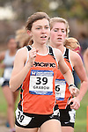 November 1, 2014; Sunnyvale, CA, USA; Pacific Tigers runner Becky Grabow (39) competes during the WCC Cross Country Championships at Baylands Park.