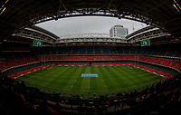 A general view of The Principality Stadium,  home of Wales Rugby<br /> <br /> Photographer Bob Bradford/CameraSport<br /> <br /> Guinness Six Nations Championship - Wales v Ireland - Saturday 16th March 2019 - Principality Stadium - Cardiff<br /> <br /> World Copyright © 2019 CameraSport. All rights reserved. 43 Linden Ave. Countesthorpe. Leicester. England. LE8 5PG - Tel: +44 (0) 116 277 4147 - admin@camerasport.com - www.camerasport.com