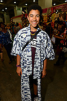 A visitor to Hyper Japan 2014, Earls Court, London, UK, July 25, 2014. Hyper Japan is the UK's largest Japanese culture event. It took place at the Earls Court exhibition space from 25 to 27 July 2014.