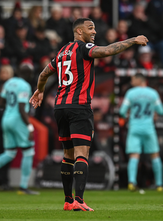 Bournemouth's Callum Wilson <br /> <br /> Photographer David Horton/CameraSport<br /> <br /> The Premier League - Bournemouth v Newcastle United - Saturday 16th March 2019 - Vitality Stadium - Bournemouth<br /> <br /> World Copyright © 2019 CameraSport. All rights reserved. 43 Linden Ave. Countesthorpe. Leicester. England. LE8 5PG - Tel: +44 (0) 116 277 4147 - admin@camerasport.com - www.camerasport.com
