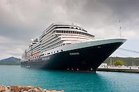 Holland America's m.s. Eurodam docked at Charlotte Amalie, St. Thomas.