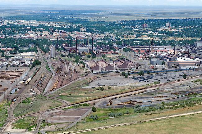 steel mill aerial