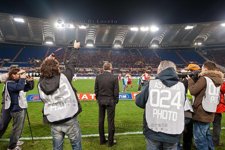 ROMA (RM) 19/11/2012: SERIE A TREDICESIMA GIORNATA ROMA - TORINO. INCONTRO VINTO DALLA ROMA PER 2 A 0. NELLA FOTO ZEDENEK ZEMAN ROMA ASSIEDATO DAI FOTOGRAFI  FOTO ADAMO DI LORETO/