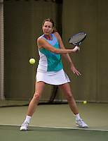 Hilversum, The Netherlands, 05.03.2014. NOVK ,National Indoor Veterans Championships of 2014, Carole de Bruin (NED)<br /> Photo:Tennisimages/Henk Koster