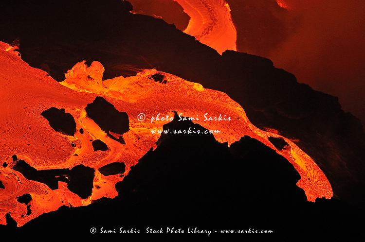 River of molten lava, close-up, Kilauea Volcano, Hawaii Islands, United States