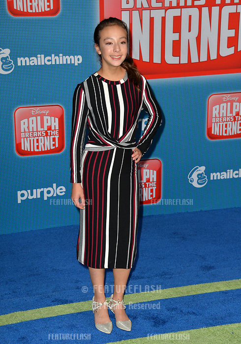 LOS ANGELES, CA. November 05, 2018: Aubrey Anderson at the world premiere of &quot;Ralph Breaks The Internet&quot; at the El Capitan Theatre.<br /> Picture: Paul Smith/Featureflash