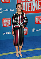 "LOS ANGELES, CA. November 05, 2018: Aubrey Anderson at the world premiere of ""Ralph Breaks The Internet"" at the El Capitan Theatre.<br /> Picture: Paul Smith/Featureflash"