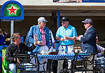 HALLANDALE BEACH, FL - JANUARY 27: A group of men buy drinks before the post on Pegasus World Cup Invitational Day at Gulfstream Park Race Track on January 27, 2018 in Hallandale Beach, Florida. (Photo by Liz Lamont/Eclipse Sportswire/Getty Images)