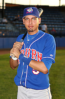 Sept. 6th, 2007:  Luis Sanchez of the Auburn Doubledays, Class-A affiliate of the Toronto Blue Jays at Russell Diethrick Park in Jamestown, NY.  Photo by:  Mike Janes/Four Seam Images