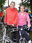 Carol Drumgoole and Niamh Tenanty who took part in the La Tour de Bog annual Ardee cycle. Photo: Colin Bell/pressphotos.ie