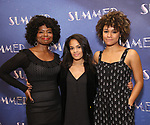 "LaChanze, Storm Lever and Ariana DeBose attend the Meet & Greet for ""Summer: The Donna Summer Musical"" on March 8, 2018 at the New 42nd Street Studios,  in New York City."