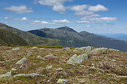 The Northern Presidential Range from along the Appalachian Trail (Gulfside Trail) in Thompson and Meserve's Purchase, New Hampshire. The Presidential Range is within the White Mountains National Forest.