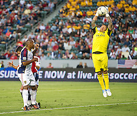 CARSON, CA - June 16, 2012: Real Salt Lake goalie Nick Rimando (18) during the Chivas USA vs Real Salt Lake match at the Home Depot Center in Carson, California. Final score Real Salt Lake 3, Chivas USA 0.