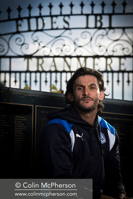 Former professional footballer and convicted drug dealer Michael Kinsella, pictured at Prenton Park, home of Tranmere Rovers FC, where he works for the club's football development programme. Kinsella, a former player at Liverpool and Rovers, served four separate gaol terms before devising and starting a programme for young people to combine apprenticeships and football. Michael started working with Tranmere Rovers in September 2015 when 25 youngsters were selected for entry onto what was then called the TRFC Scholarship programme.