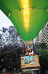 George Lopez & Mayan Lopez go up in the hot air balloon at The Opening Night Gala for Warner Bros. Consumer Products' The Ruby Slipper Collection & Inspirations of Oz Fine Art Exhibition and the announcement of Warner Home Video's The Wizard of Oz Ultimate Collector's Edition Blu-ray & Dvd held at Fashion Institute of Design & Merchandising in Los Angeles, California on June 09,2009                                                                     Copyright 2009 Debbie VanStory / RockinExposures