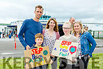 Tom. Wilf, Catherine and Maddie Lewis Caragh Lake with  Callen Beaufort at the Oil Drilling protest at Kerry Airport on Sunday