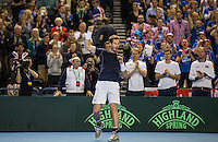 Davis Cup - Day One - ANDY MURRAY v Taro Daniel - 04/03/2016