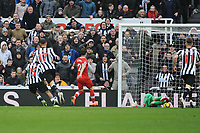 Kenedy of Newcastle United (l) scores his and Newcastle United's second goal of the game during Newcastle United vs Southampton, Premier League Football at St. James' Park on 10th March 2018