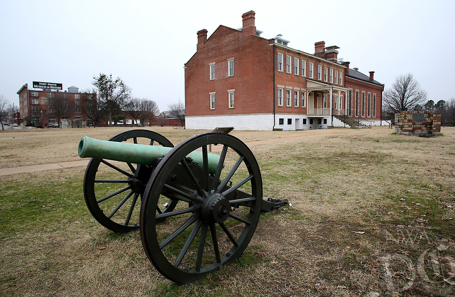 Democrat-Gazette/DAVID GOTTSCHALK The Fort Smith National Historic Site remains closed Wednesday, January 2, 2019, because of a lapse in federal appropriations in downtown Fort Smith.