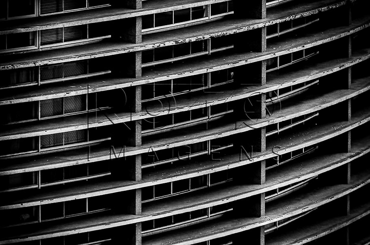 Detalhe da arquitetura do  Edifício Copan , São Paulo - SP, 01/2014.