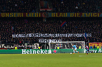 Basel fans display a banner about ticket prices <br /> <br /> Photographer Craig Mercer/CameraSport<br /> <br /> UEFA Champions League Round of 16 First Leg - Basel v Manchester City - Tuesday 13th February 2018 - St Jakob-Park - Basel<br />  <br /> World Copyright &copy; 2018 CameraSport. All rights reserved. 43 Linden Ave. Countesthorpe. Leicester. England. LE8 5PG - Tel: +44 (0) 116 277 4147 - admin@camerasport.com - www.camerasport.com