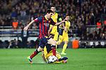 UEFA Champions League 2013/2014.<br /> Quarter-finals 1st leg.<br /> FC Barcelona vs Club Atletico de Madrid: 1-1.<br /> Lionel Messi.