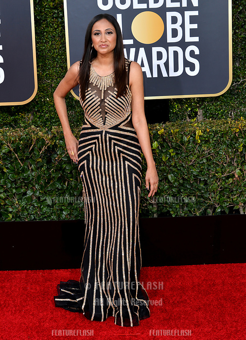 LOS ANGELES, CA. January 06, 2019: Rasha Goel at the 2019 Golden Globe Awards at the Beverly Hilton Hotel.<br /> Picture: Paul Smith/Featureflash