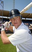 Detroit Tigers Rich Rowland (12) during Spring Training 1993 at Joker Marchant Stadium in Lakeland, Florida.  (MJA/Four Seam Images)