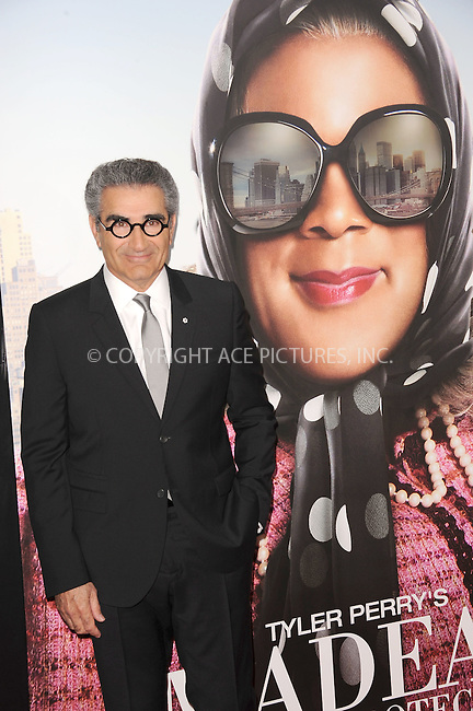 WWW.ACEPIXS.COM . . . . . .June 25, 2012...New York City....Eugene Levy arriving to Tyler Perry's 'Madea's Witness Protection' New York Premiere at AMC Lincoln Square Theater on June 25, 2012 in New York City ....Please byline: KRISTIN CALLAHAN - ACEPIXS.COM.. . . . . . ..Ace Pictures, Inc: ..tel: (212) 243 8787 or (646) 769 0430..e-mail: info@acepixs.com..web: http://www.acepixs.com .