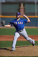 Texas Rangers pitcher Ryne Slack (96) during an instructional league game against the San Diego Padres on October 9, 2015 at the Surprise Stadium Training Complex in Surprise, Arizona.  (Mike Janes/Four Seam Images)