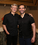 """David Garrison and Javier Munoz attends the Opening Night performance afterparty for ENCORES! Off-Center production of """"Working - A Musical""""  at New York City Center on June 26, 2019 in New York City."""