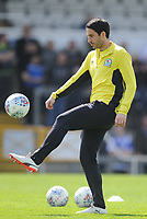 Blackburn Rovers' Peter Whittingham during the pre-match warm-up <br /> <br /> Photographer Ashley Crowden/CameraSport<br /> <br /> The EFL Sky Bet League One - Bristol Rovers v Blackburn Rovers - Saturday 14th April 2018 - Memorial Stadium - Bristol<br /> <br /> World Copyright &copy; 2018 CameraSport. All rights reserved. 43 Linden Ave. Countesthorpe. Leicester. England. LE8 5PG - Tel: +44 (0) 116 277 4147 - admin@camerasport.com - www.camerasport.com