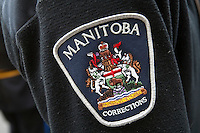 Manitoba corrections badge is seen during a police memorial parade in Ottawa Sunday September 26, 2010.