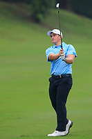 Paul Dunne (Europe) on the 6th fairway during the Saturday Foursomes of the Eurasia Cup at Glenmarie Golf and Country Club on the 13th January 2018.<br /> Picture:  Thos Caffrey / www.golffile.ie