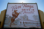 Exterior painting on the Van Nuys Drive In Theater in the San Fernando Valley, CA