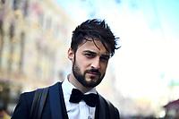 Antonello Carozza, Italian singer and composer, takes a walk in Moscow, Russia  on June 01, 2018,<br /> **Not for sales in Russia or FSU**<br /> CAP/PER/EN<br /> &copy;EN/PER/CapitalPictures