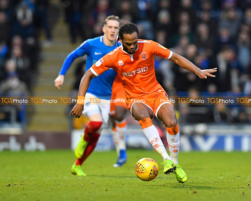 Nathan Delfouneso of Blackpool during Portsmouth vs Blackpool, Sky Bet EFL League 1 Football at Fratton Park on 12th January 2019