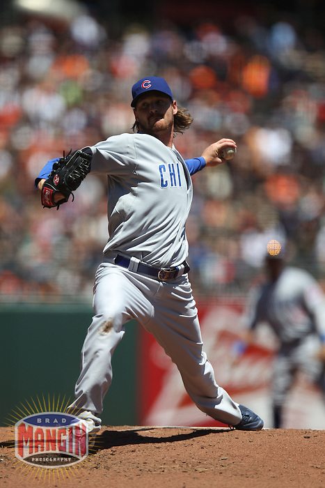 SAN FRANCISCO, CA - JUNE 3:  Travis Wood #30 of the Chicago Cubs pitches against the San Francisco Giants during the game at AT&T Park on Sunday, June 3, 2012 in San Francisco, California. Photo by Brad Mangin