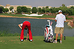 Ian Poulter prepares to tee off on the par3 6th tee during Day 1 of the Dubai World Championship, Earth Course, Jumeirah Golf Estates, Dubai, 25th November 2010..(Picture Eoin Clarke/www.golffile.ie)