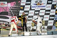 #84 ARROWS A3 JORDAN GROGOR WINNER OVERALL RACE 2 #30 AMON AF101 JEAN PIERRE VALENTINI SECOND PLACE RACE 2 #20 MATRA ROALD GOETHE THIRD PLACE RACE 2