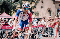 Thibaut Pinot (FRA/Groupama-FDJ)  to the start<br /> <br /> stage 13 Ferrara - Nervesa della Battaglia (180km)<br /> 101th Giro d'Italia 2018